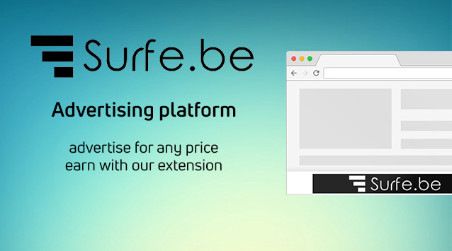 Surfe.be - Advertise through our platform from $ 0.02 per click