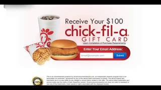 Receive a $100 Chic-fil-a Gift Card Giveaways!: US Only