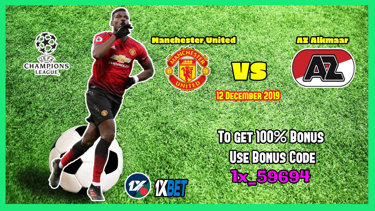ম্যানচেস্টার ইউনাইটেড (Manchester United) বনাম এ জেড অ্যালকামার (AZ Alkmaar) :উয়েফা চ্যাম্পিয়নস লীগ - Bengla Sport