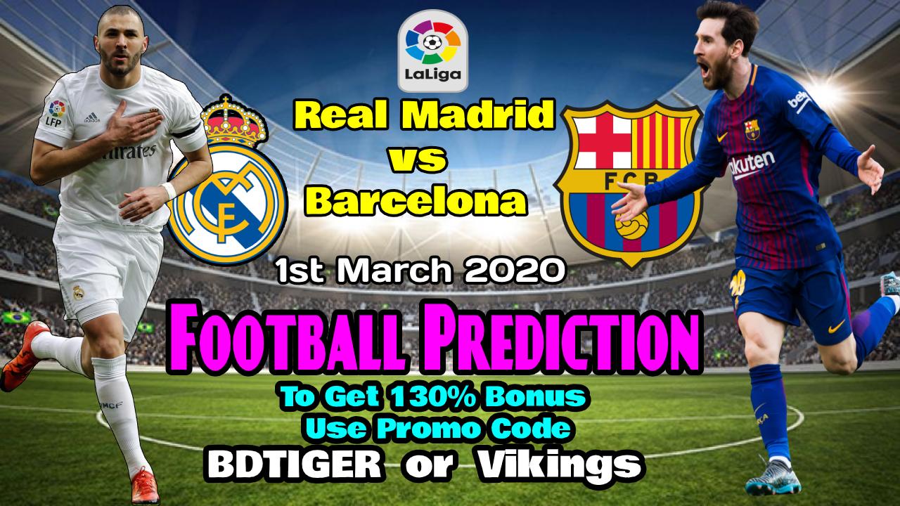 Real Madrid vs Barcelona    Spain- La Liga    1 March 2020    - Bengla Sport