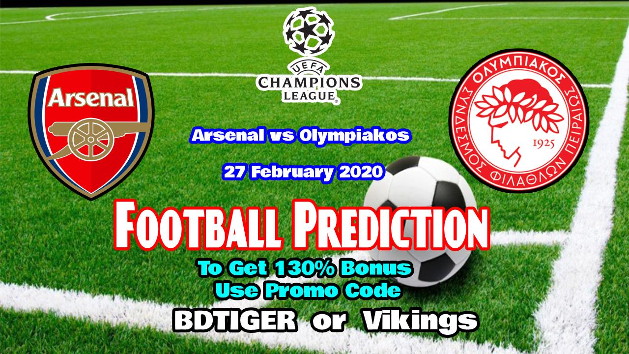 Arsenal vs Olympiakos    UEFA Europa League    27 February 2020    - Bengla Sport